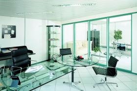 Ganzglaselement Büroraum (Trennwände, Trennwand, Ganzglas, Vollglas)