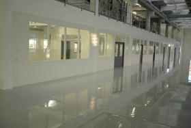 Teilglaselemente Büro in Lagerhalle (Trennwände, Trennwand, Teilglas, Teilverglast)